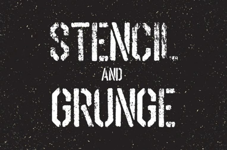 Stencil and Grunge Textured Fonts