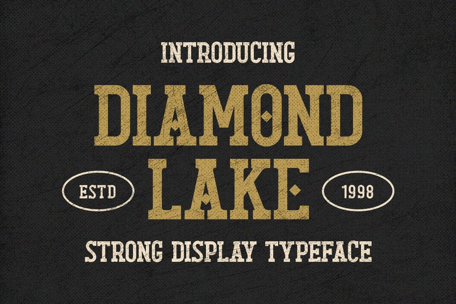 Strong Diamond Display Typeface