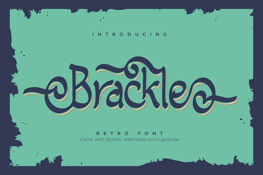 Stylish Multilingual Retro Typeface