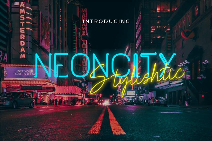 Stylish Neon City Fonts
