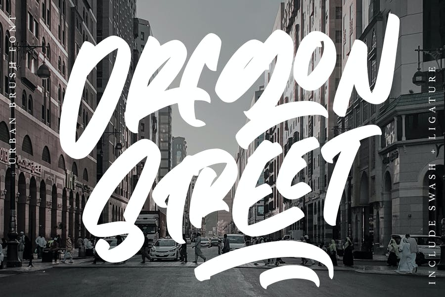 Stylish Urban Brush Typeface