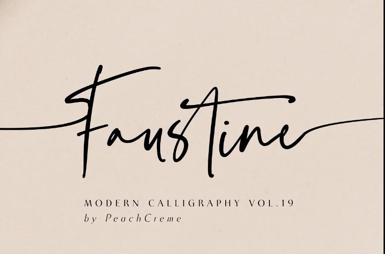 Stylish modern Calligraphy Fonts