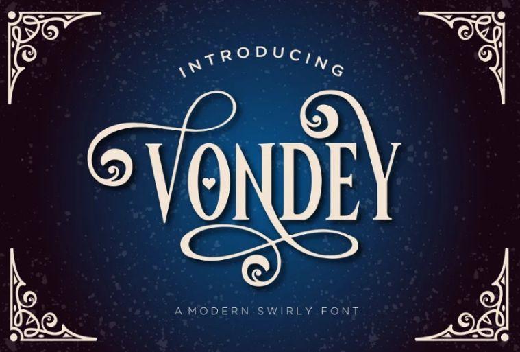 Swirly Decorative Fonts