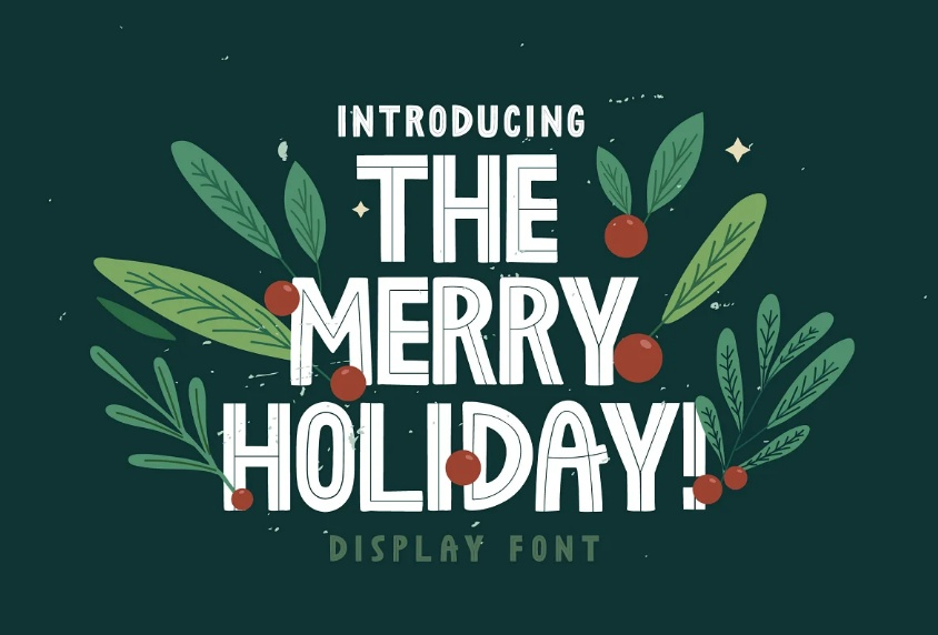 The Merry Holiday Display Font