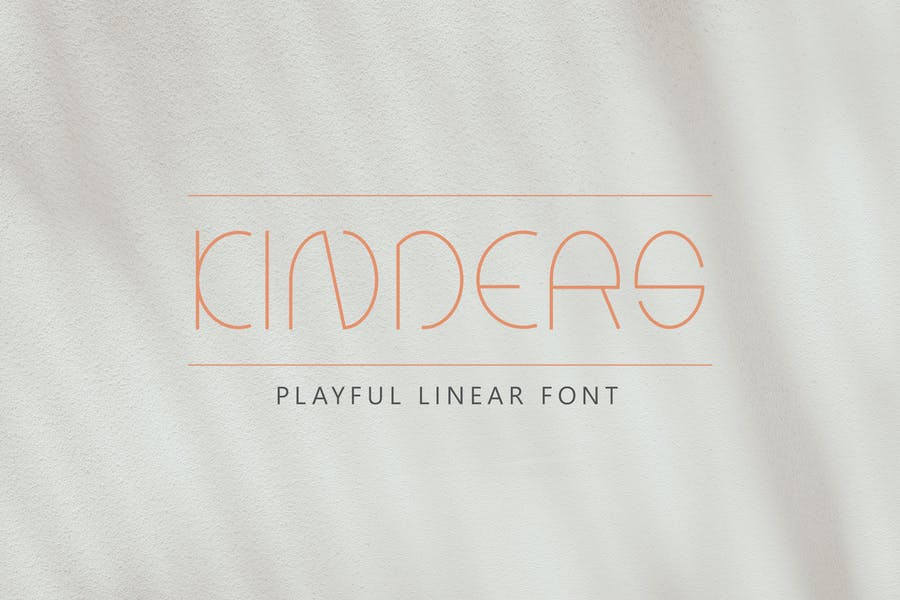 Thin Linear Playful Font