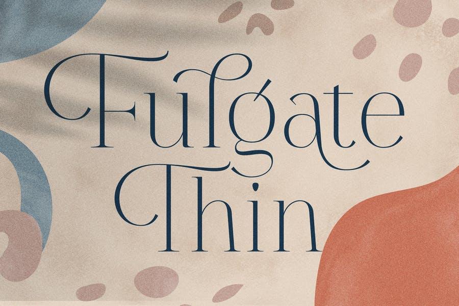 Thin Luxury Display fonts