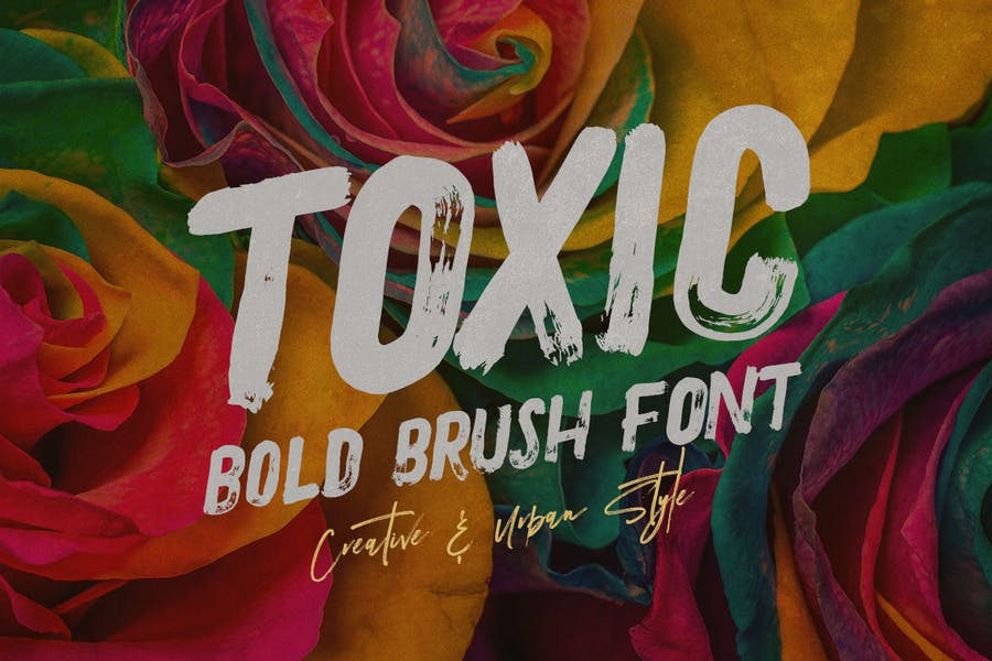 Toxic and Brush Style Fonts
