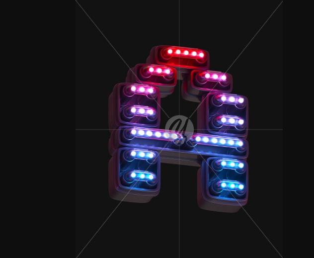 Ultraviolet Neon Fonts