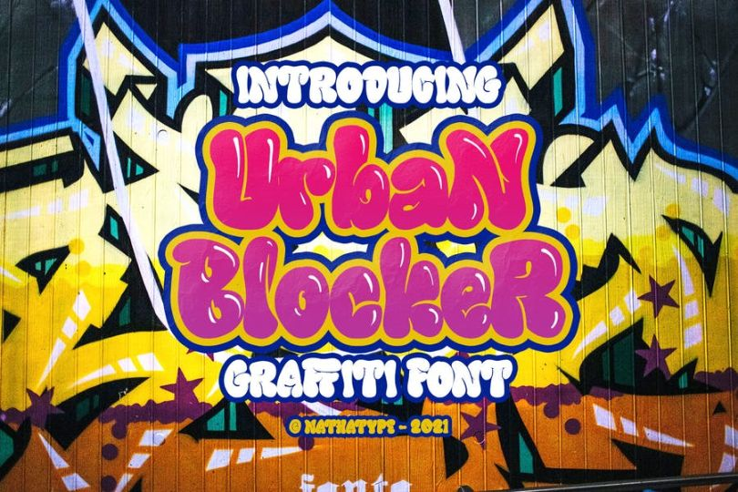 Blocker Graffiti Urban Fonts