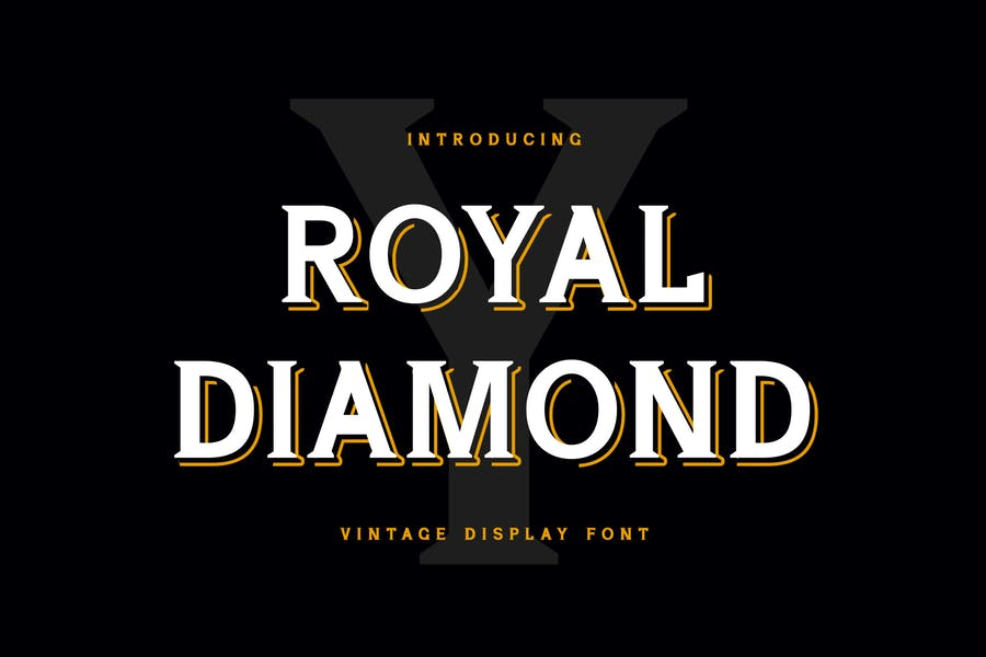 Vintage Diamond Display Fonts