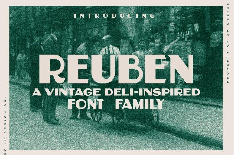 Vintage Headline Bold Font
