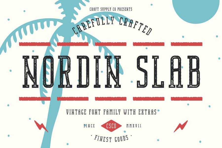 Vintage Slab Font Family