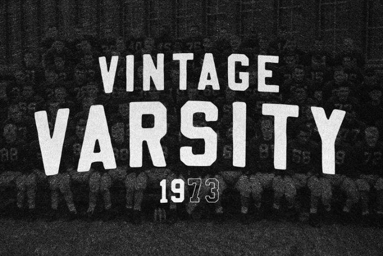 Vintage Style Sports Font