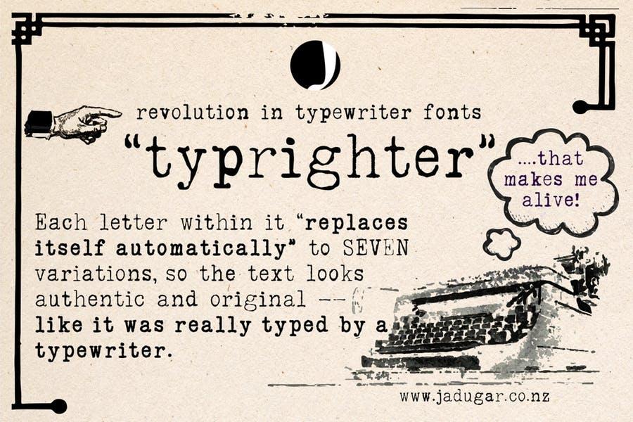 Vintage Typewriter Fonts