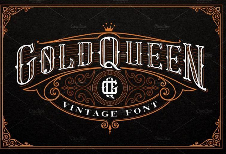 Vintage Whisky Branding Text