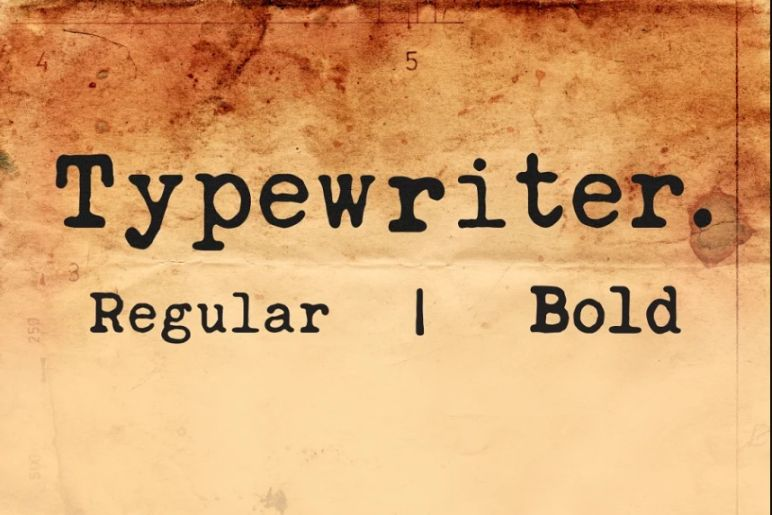 Vintage and Classic Typewriter Typeface