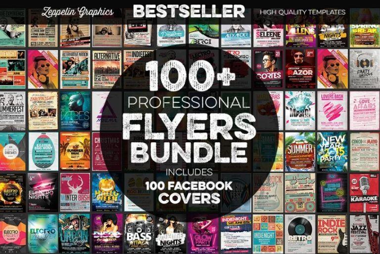 100 Flyers Templates Bundle