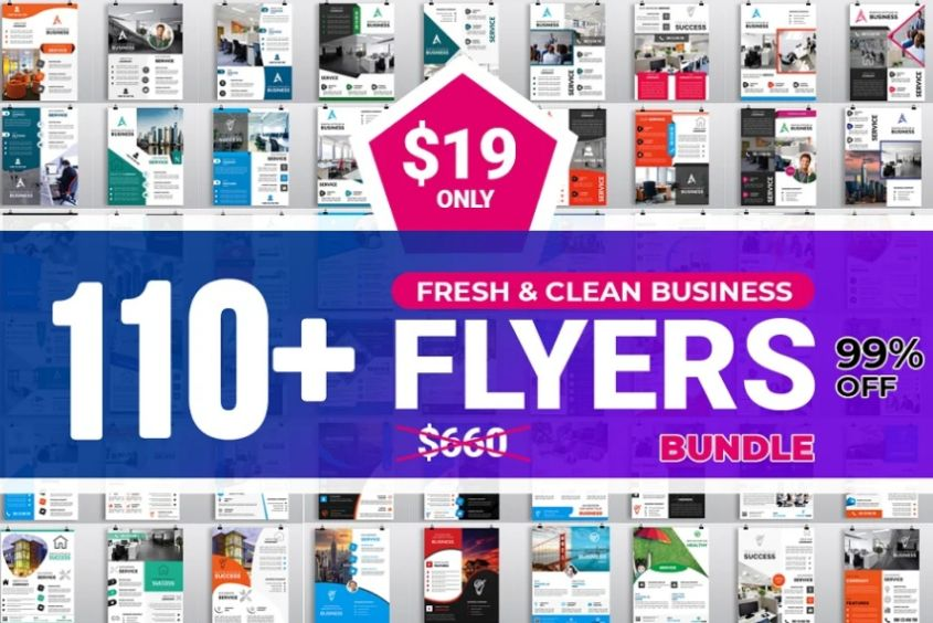 110 Clean Business Flyer Templates