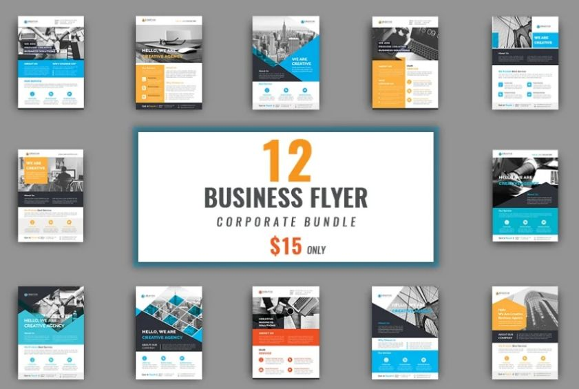 12 Business Flyer Bundle