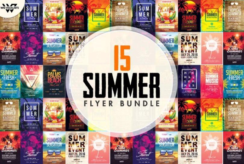 15 Summer Beach Flyer Designs