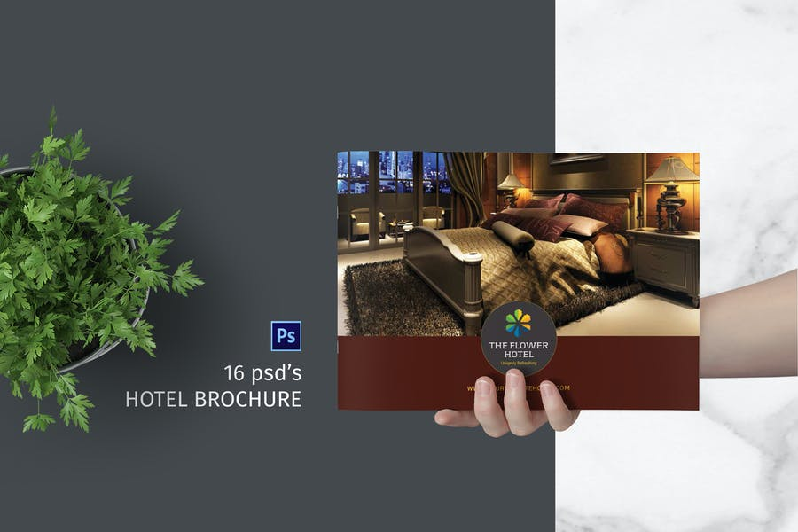 16 Pages A4 Hotel Brochure Template