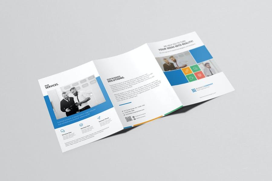2 A5 Tri Fold Brochure Templates