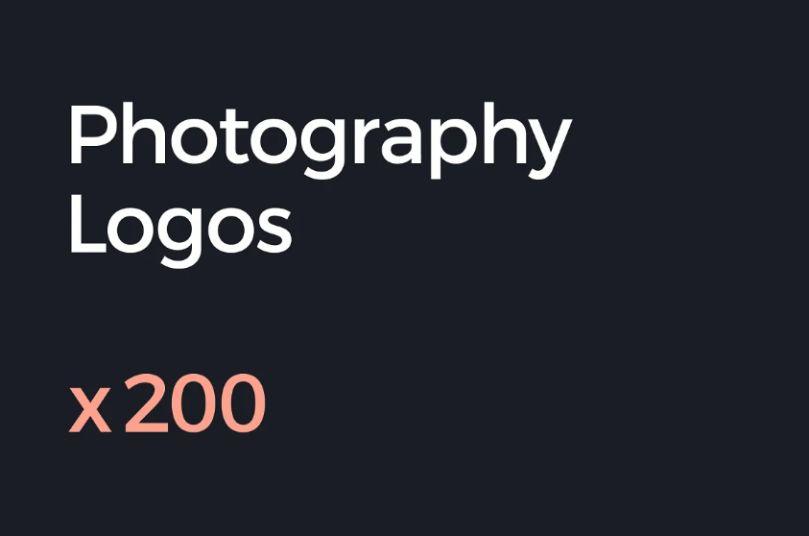 200 Photography Logo Templates