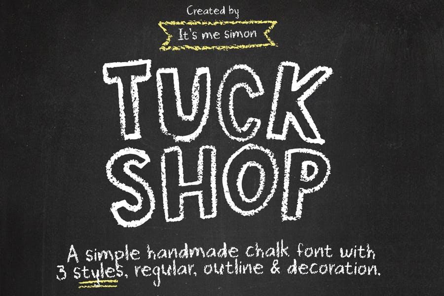 3 Weight Chalk Typeface