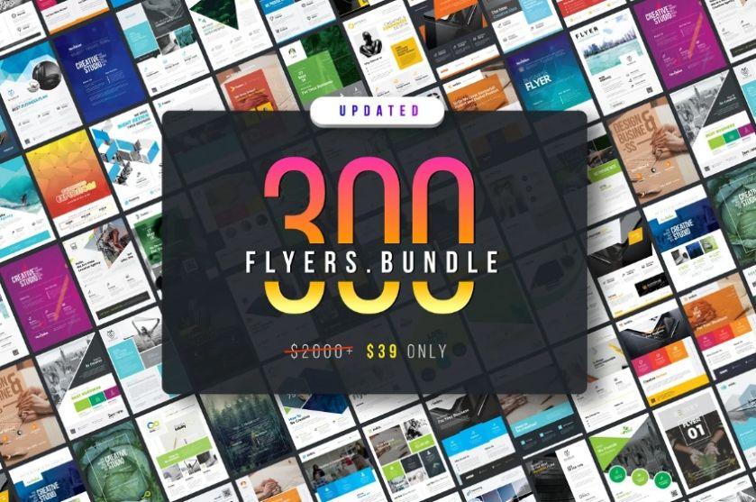 300 Corporate Flyers Templates Bundle