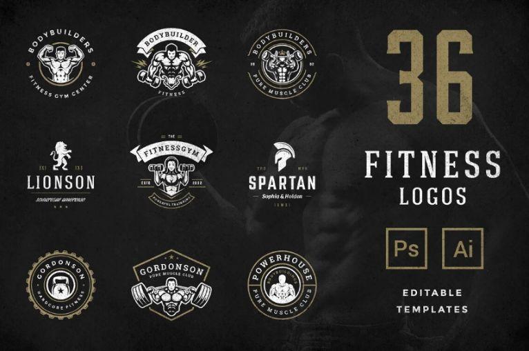 36 Fitness Logo Designs