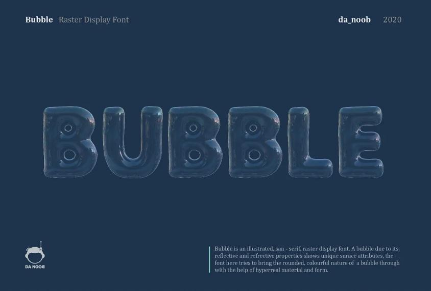 3D Bubble Display Fonts
