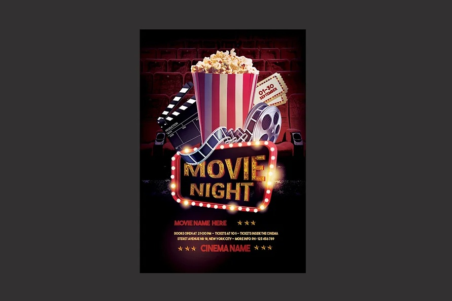3D Movie Ad Flyer