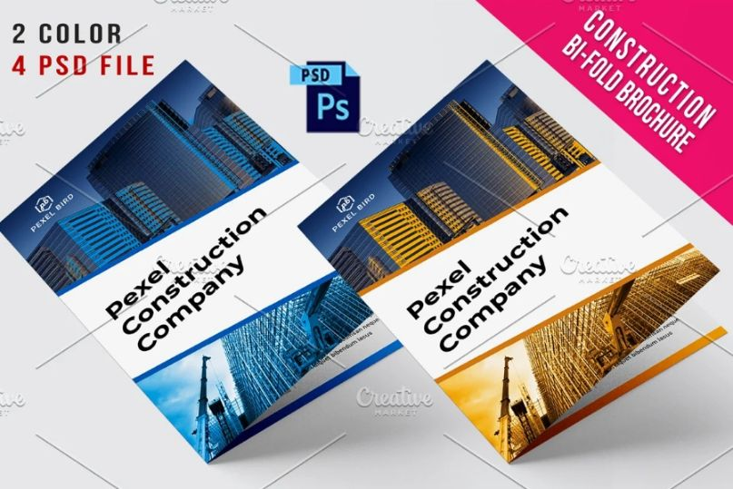 4 Contruction Brochures Template