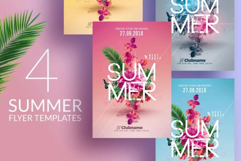 4 Summer Party Invitation Templates