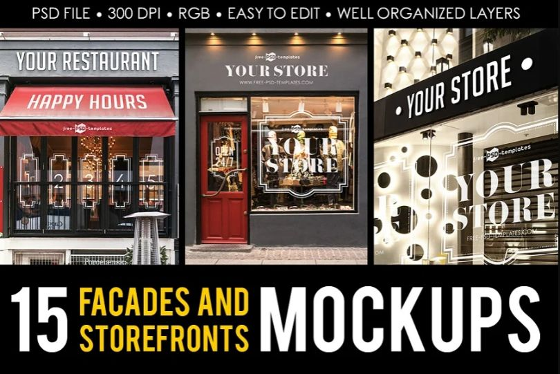 15 Storefront and Facade Mockups