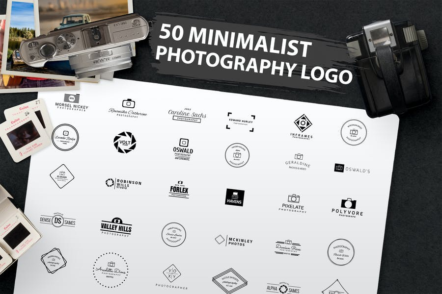 50 Minimalist Photography Logos