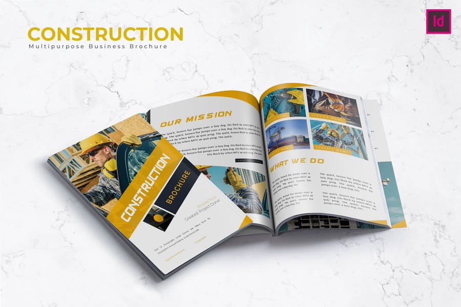 6 Pages Construction Brochure Template