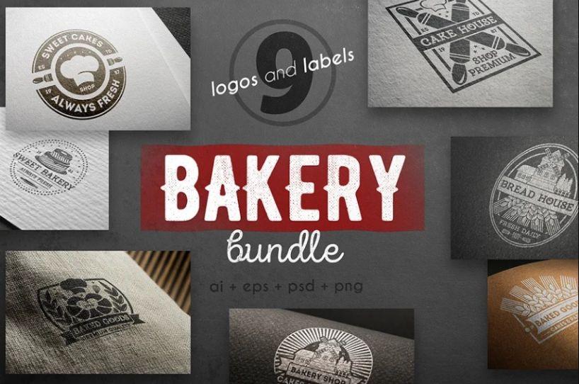 9 Bakery Logos Kit