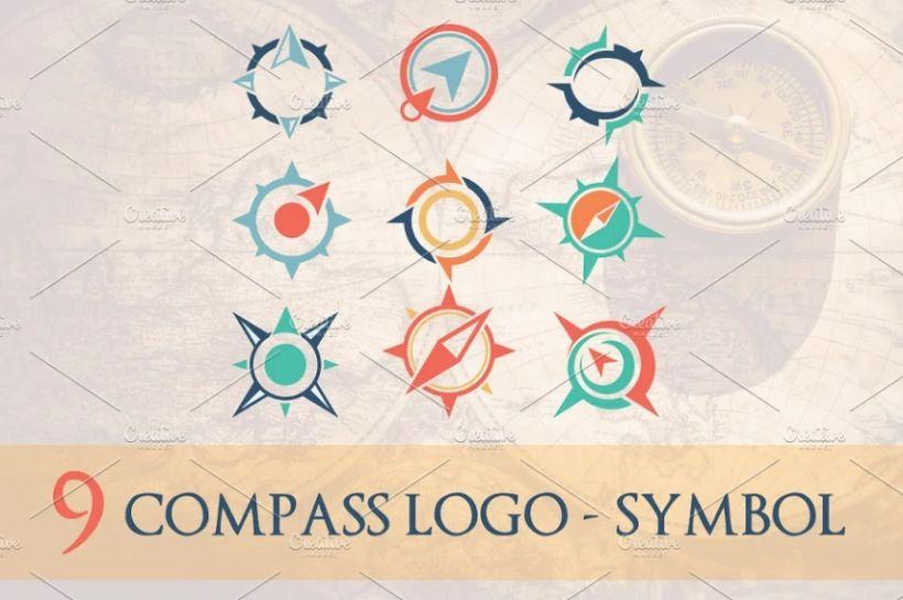 9 Compass Logo Design Templates
