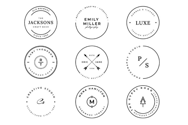 9 Stamp Logo Designs Collection