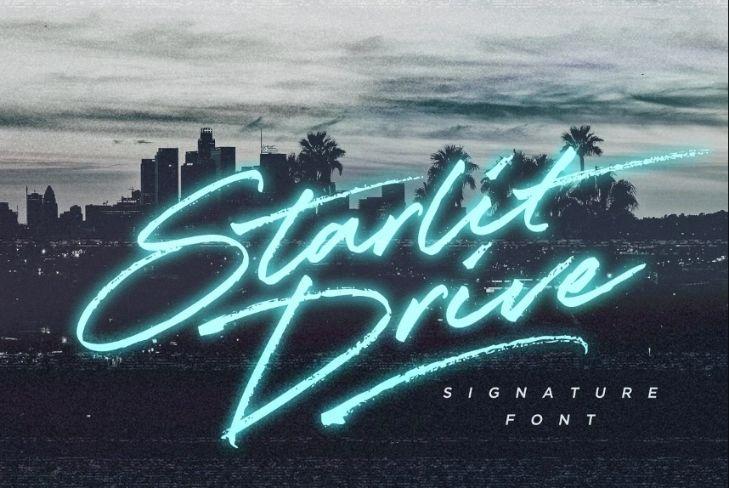 90s Signature Display fonts