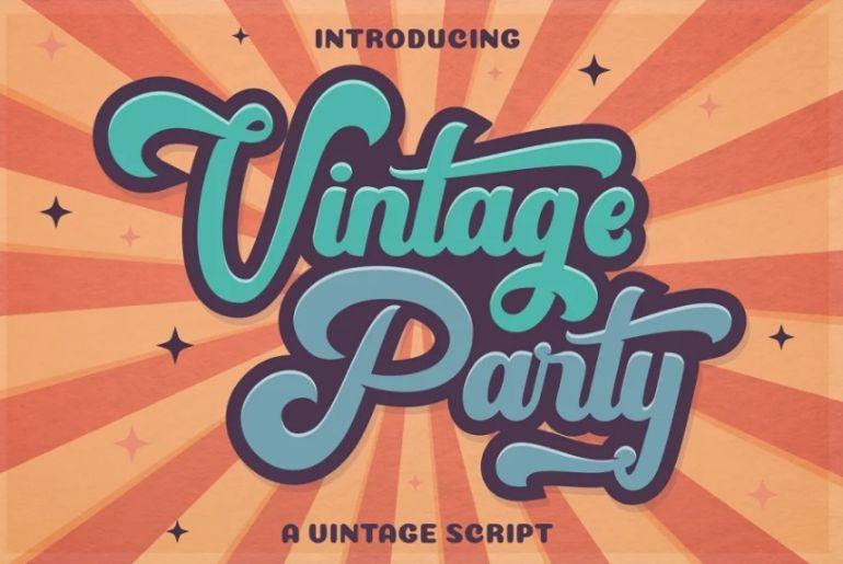 90s Vintage Bold Fonts