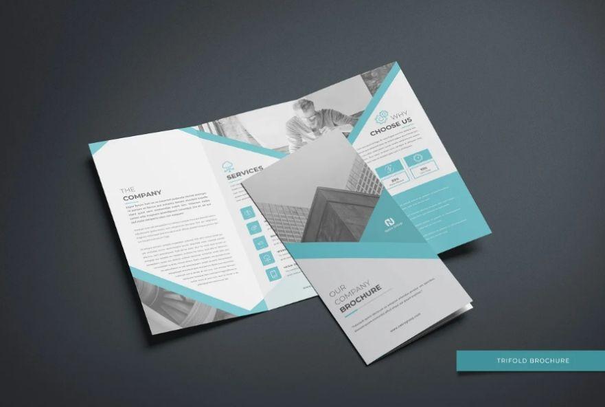 A4 Agency Tri Fold Brochure Template