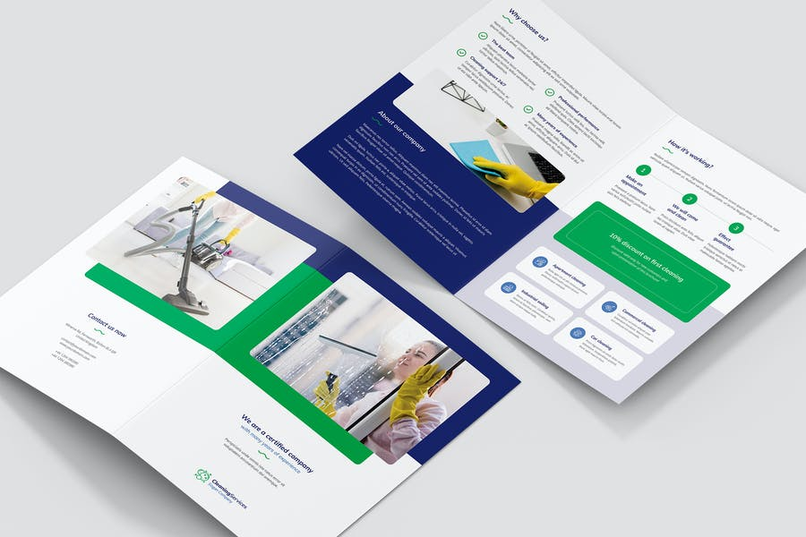 A4 Cleaning Services Tri Foild Brochure