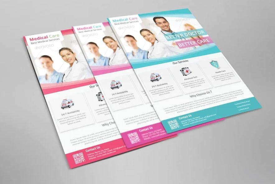 A4 Editable Health Care Flyer