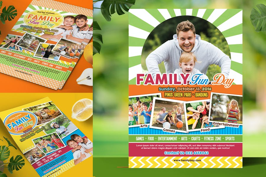 A4 Family Day Flyer Design