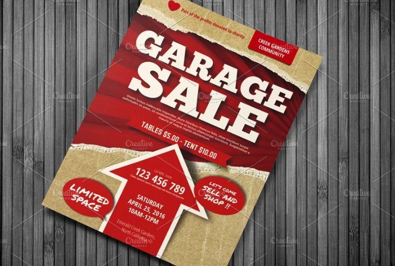 A4 Garage Sale Ad Flyer