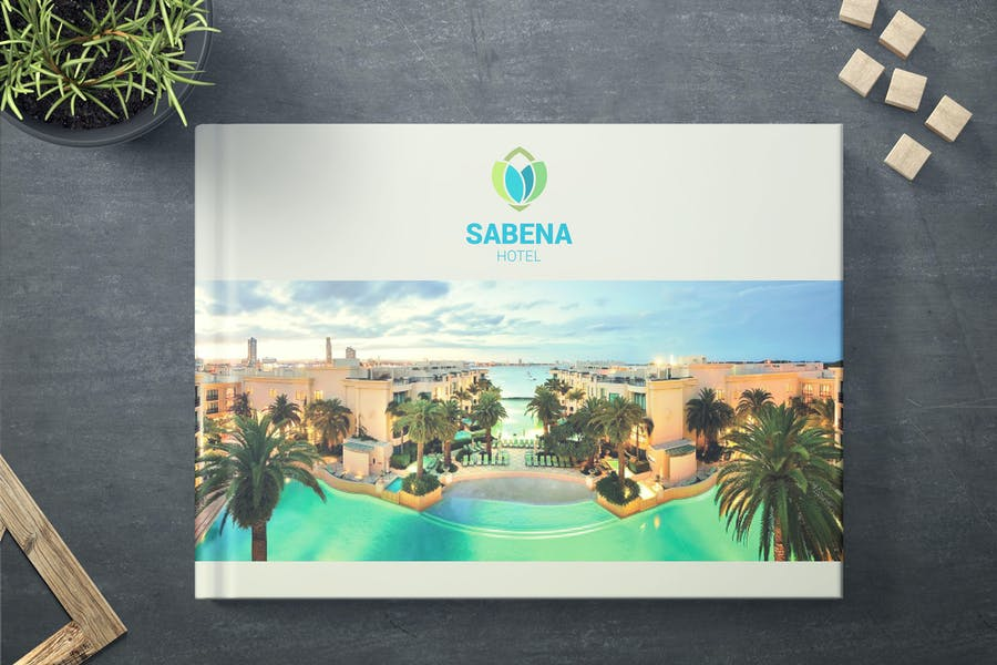 A4 Horizontal Hotel Brochure Template