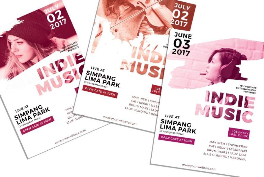 A4 Indie Concert Flyer