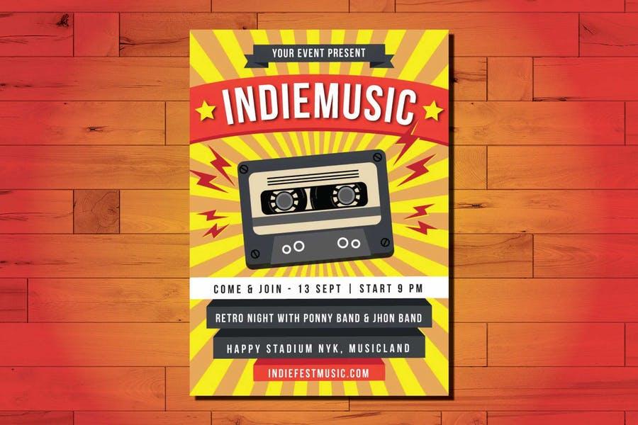 A4 Indie Music Flyer